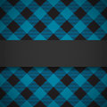Blue tilted lumberjack plaid pattern black banner on seamless background Stock Photos