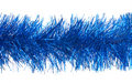 Blue tinsel Royalty Free Stock Photo