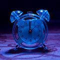 Blue Tinted Alarm Clock Royalty Free Stock Photos