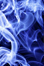 Blue tobacco smoke Royalty Free Stock Photo