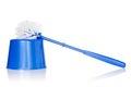Blue toilet brush Royalty Free Stock Photo