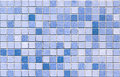 Blue tone mosaic tiles seamless Royalty Free Stock Photography