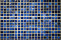 Blue tone mosaic tiles texture background Royalty Free Stock Photo