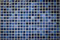 Blue tone mosaic tiles texture background Royalty Free Stock Photo