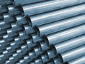 Blue Tone Steel Pipe Stock Images