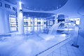 Blue tone swimming pool general view of indoor in Royalty Free Stock Photo