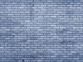 Blue toned brick wall repeating pattern