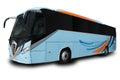 Blue Tour Bus Royalty Free Stock Photo