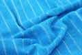 Blue towel texture as a background Royalty Free Stock Photos