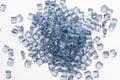 Blue transparent polymer resin