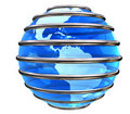 Blue trapped Earth Planet Royalty Free Stock Images