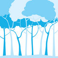 Blue trees Royalty Free Stock Photos