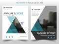 Blue Triangle Brochure annual report Leaflet Flyer template design, book cover layout design, abstract business presentation