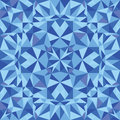 Blue triangle texture seamless pattern background Royalty Free Stock Photo