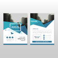 Blue triangle triangle annual report Leaflet Brochure Flyer temp