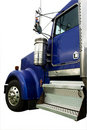 Blue truck cab Royalty Free Stock Image