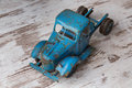 A blue truck an old rusty toy Royalty Free Stock Photo