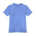 Blue tshirt isolated on white Royalty Free Stock Photo