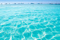 Blue turquoise ripple Formentera water Royalty Free Stock Photography