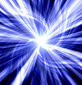 Blue twisted blast Royalty Free Stock Photo