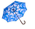 Blue umbrella opened Stock Photos