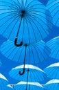 Blue Umbrellas.
