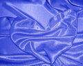 Blue valentines day heart holiday card stock photo with shaped satin background Royalty Free Stock Image