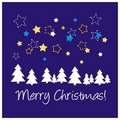 Blue vector Christmas card or invitation Royalty Free Stock Photos