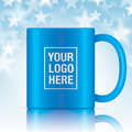 Blue vector coffee mug