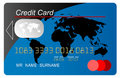 Blue vector  credit card Stock Image