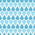 Blue vector falling water drops seamless pattern Royalty Free Stock Photo