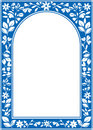 Blue vector floral arch frame  Royalty Free Stock Images