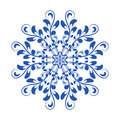 Blue vector floral Russian national ornament in style Gzhel Royalty Free Stock Photo