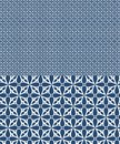 Blue vector seamless pattern inspired by azulejos design