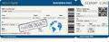 Blue vector template of boarding pass tickets