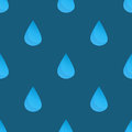 Blue vector water drops seamless pattern Royalty Free Stock Photo