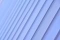Blue vertical blinds. Soft selective focus.