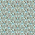 Blue victorian vintage damask seamless wallpaper Royalty Free Stock Photo