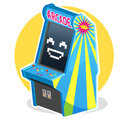 Blue Vintage Arcade Machine Game Stock Photography