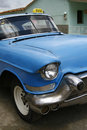 Blue vintage taxi cab in Havana, Cuba Royalty Free Stock Photo