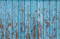 Blue vintage wood background with peeling paint Royalty Free Stock Photo