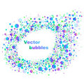 Blue and violet abstract splash bubble background Stock Photography