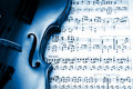 Blue violin Royalty Free Stock Images