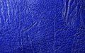 Blue vivid leather texture closeup useful as background Royalty Free Stock Photography