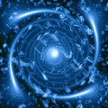 Blue vortex Royalty Free Stock Photo
