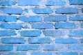 Blue wall brick work Royalty Free Stock Photo