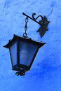 Blue wall and lantern santa catalina convent arequipa peru inside the ancient in Royalty Free Stock Photo