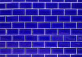 Blue wall tiles. Royalty Free Stock Photography
