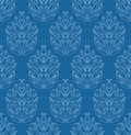 Blue wallpaper seamless with floral ornament Stock Image