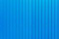 Blue warehouse wall